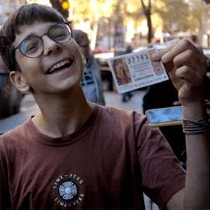 Ganador de la lotería de 15 años